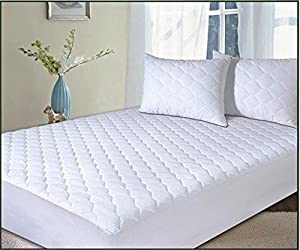 Premier Linens luxury and quality Polycotton comfortable Quilted ,Anti Allergy, Anti bed bugs Extra Deep(33cm/13 inch) Mattress Protector Single Super King (180cmx200cm)