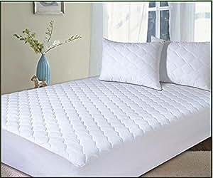 classic linen matratzenschoner antiallergen baumwoll polyester gesteppt 135x190cm f r hohe. Black Bedroom Furniture Sets. Home Design Ideas