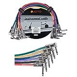 Joyo cm-05 Lot de 6 câbles guitare Jack 6.3mm Mono coudés