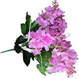 Sanysis - 1 X 5 cabezas flores artificiales hortensias (Rosa)