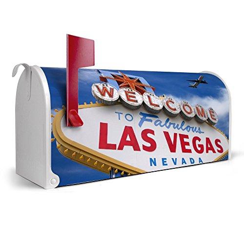 banjado-weier-Amerikanischer-Briefkasten-USA-Mailbox-17cm-x-22cm-x-51cm-mit-Motiv-Las-Vegas