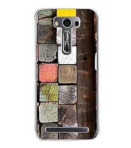 PrintVisa Colorful Wood Blocks High Gloss Designer Back Case Cover for Asus Zenfone 2 Laser ZE500KL