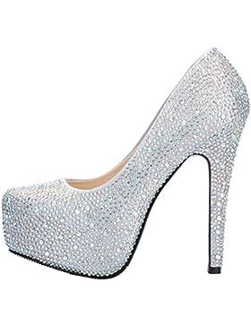 SEXYHER Sparkling Bella 5.5 pollici scarpe col tacco alto della piattaforma del partito di nozze