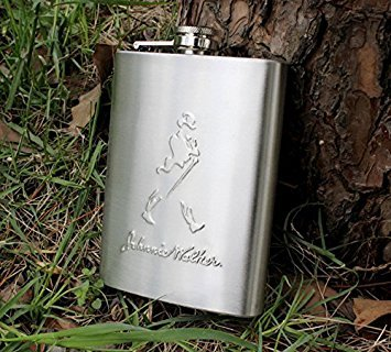 SOSA (230 Ml) Stainless Steel Hip Flask Johnnie Walker Design Embossed 8Oz  available at amazon for Rs.225