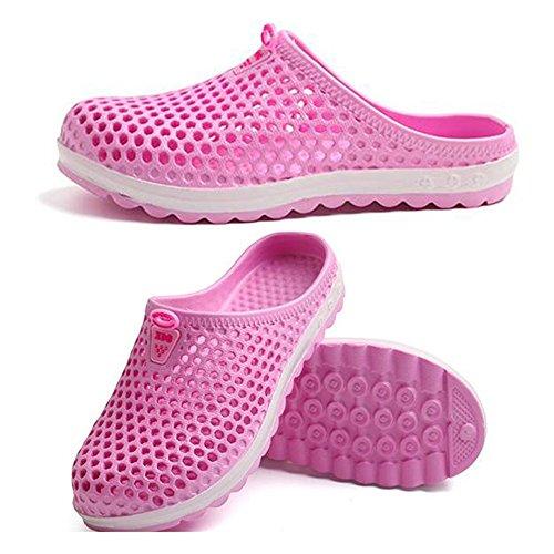 Eastlion Sommer Männlich Und Weiblich EVA Paar Strand Schuhe Freizeit Rutschfeste Halbe Hausschuhe Weiblich Pink