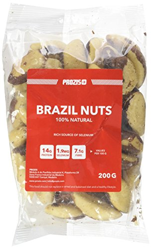 Prozis 100 % Natural Brasil Nuts 200g - Excellente Source de Protéine, Fibre & Matières Grasses Saines - Adapté aux Végétariens & Vegans - 11 Doses