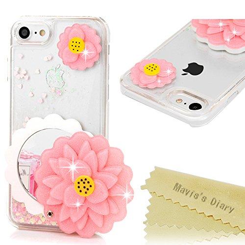 maviss-diary-iphone-7-mirror-case-47-big-pink-flower-make-up-mirror-glitter-flowing-liquid-floating-