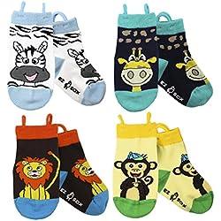 Calcetines para niños, puntera sin costura, antideslizante