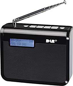 Soundmaster DAB300 Portable Digital Black radio - Radios (Portable, Digital, AM,DAB+,PLL, PLL, 0.5 W, LCD)