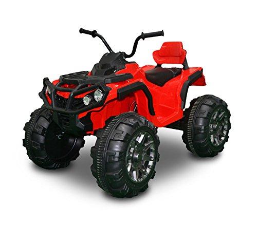 Quad ATV elettrico LT867 per bambini monoposto ROSSO 12V due motori 103 x 68 x 73cm. MEDIA WAVE store