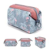 DWE Makeup Bags, Travel Cosmetic Bags Brush Pouch Toiletry Wash Bag Portable Travel Make Up Case Pouch For Women Girls (Flamingo)
