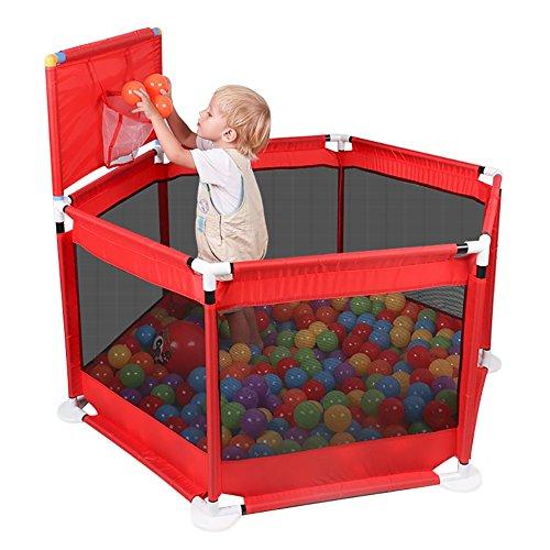 YYHSND Kinder Zelte schießen Korb Spiel Zaun Baby Sicherheitszaun erhöhen 66 cm Zaun Indoor Baby Marine Ball Pool Spielzeug Spielplatz rot Kinderschutz (Roter Pool Tube)