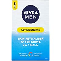Nivea Men Skin Energy Revitalising Double Action Aftershave Balm, 100 ml - Pack of 2