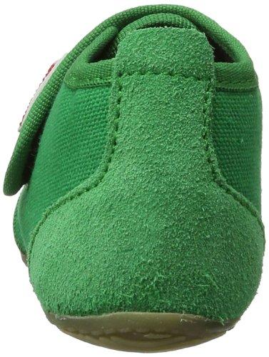 Living Kitzbühel Klettschuh unifarben 1910, Pantofole Unisex bambini Verde (Grün (verde 465))