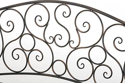 CLP Metall Gartenbank TUAN, 2-er Sitz-Bank Garten, Eisen lackiert, Design nostalgisch antik, 105 x 50 cm Bronze - 5