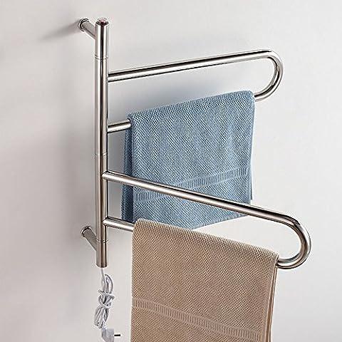Drehbare 304 Edelstahl elektrische Wand montiert Handtuchhalter Handtuchwärmer (Boden Montiert Handtuchwärmer)