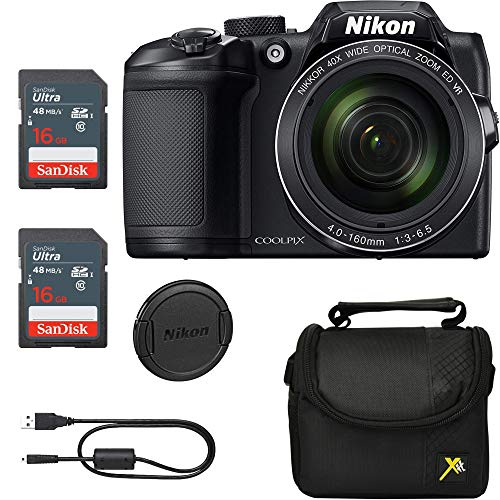 Vente Exclusive, Classic Bundle for Nikon B500 Coolpix Camera (Noir)