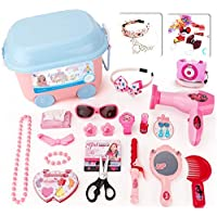 Ánimo Beauty Cosmetics and Jewellery Box Pretend Play Toys Educational and Scientific Game with 22 Diferent Sets for Childrens over 3 Years