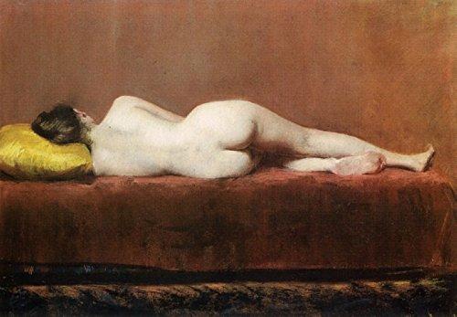 Das Museum Outlet-Nude Liegerad, 1888, gespannte Leinwand Galerie verpackt. 50,8x 71,1cm