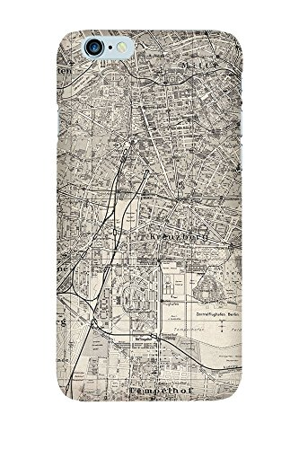 iPhone 4/4S Coque photo - Retro Map Berlin Grunge