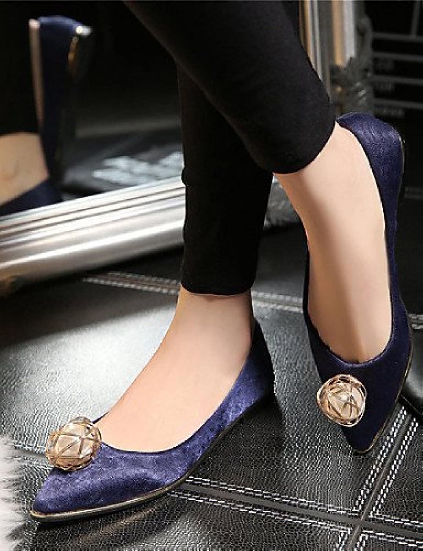 PDX/zapatos de las mujeres forro polar soporte de talón comodidad/novedad/punta Toe/cerrado Toe Flats/LoafersWedding...