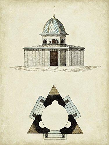 Artland Poster oder Leinwand-Bild fertig aufgespannt auf Keilrahmen mit Motiv Vision Studio Gartentore I Architektur Architektonische Elemente Illustration Sepia D0EI
