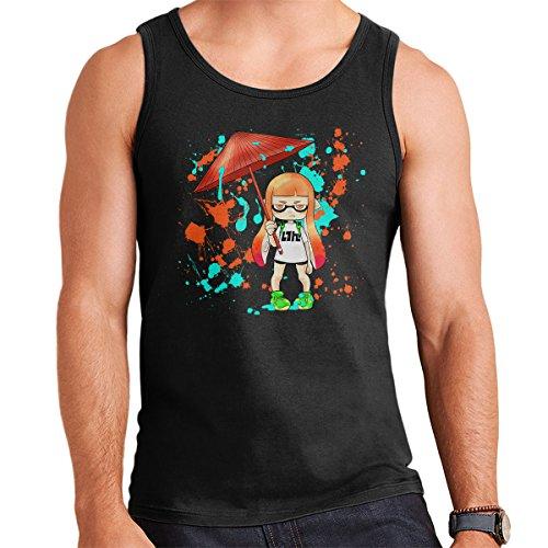 Ink War Inkling Splatoon Men's Vest Black