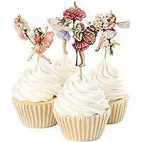 Decoración para tarta con diseño de flores para niñas pequeñas, ...