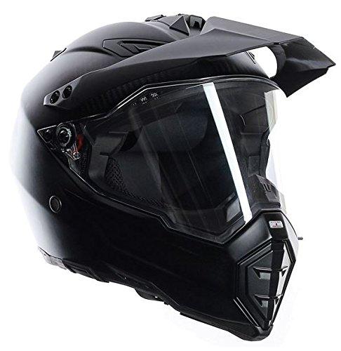 AGV Ax8 Dual Evo Carbon Motorrad Helm schwarz (Helm Motorrad Evos)