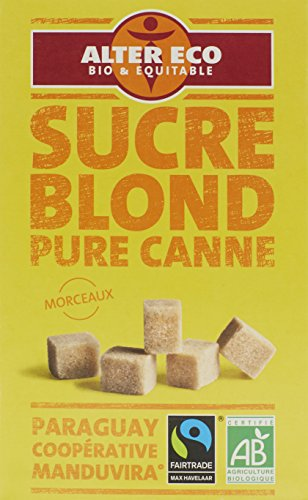 Alter Eco Sucre Blond Pure Canne en Morceaux Bio et Equitable 500 g - Lot de 3