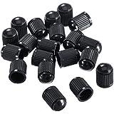 20 Piezas Tapas Antipolvo de Válvula de Neumático para Coche, Camiones, Bicicletas (Negro)