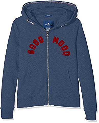 TOM TAILOR Kids Jungen Sweatshirt Good Mood Sweatjacket, Blau (Dark