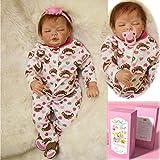ZIYIUI 22 Zoll Reborn Babys Puppe Günstig Puppe Lebensecht Babypuppen Mädchen weichkörper...