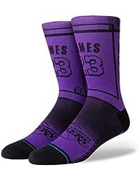c9e243e676c Stance NBA Los Angeles Lakers Lebron James LBJ 2 La Chaussettes Homme Violet