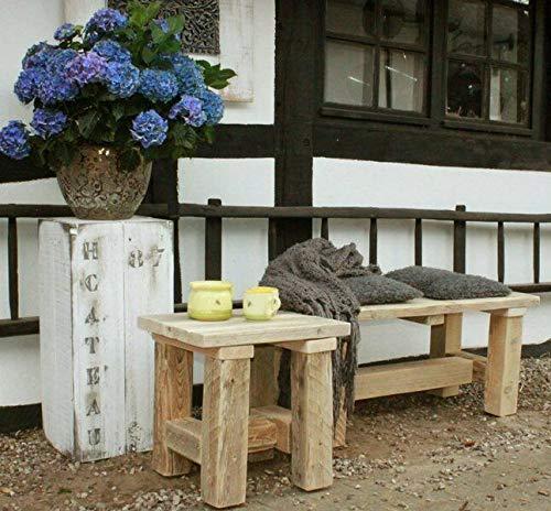 FidgetGear Holzhocker Gartenhocker Massivholz Natur geölt Show One Size