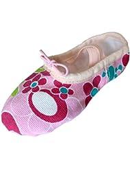 Dancina Zapatillas de Ballet de Lona Rosa para Niñas – Su Primer Zapato de Baile