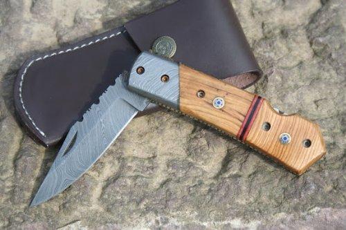 Cuchillo acero Damasco cuchillo Japón pins mosaicofilter