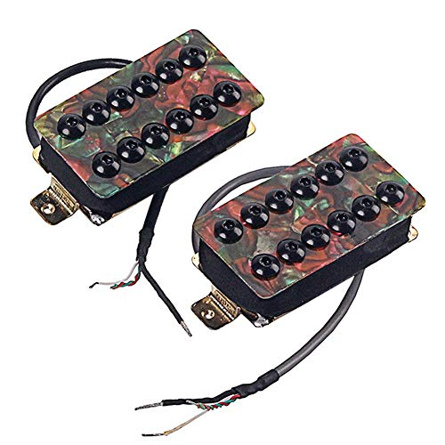 J5pecwanli 2 Stück Zelluloid Dual Coil Humbucker Tonabnehmer Set für Les Paul/SG E-Gitarre multi -