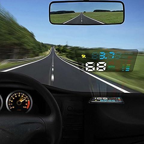 Autool 12V Digital Auto HUD OBD Head Up Display KM/H