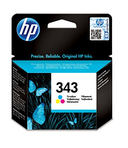 HP 343tri-color Inkjet Print Cartridge gelb Tintenpatrone-Tintenpatronen (cyan, magenta, gelb, HP Photosmart 8450, 8150, 2710, 2610, 375, 325, HP Officejet 7410, 7310& 6210, HP PSC 2350, HP Desk, Standard, Tintenstrahldrucker, 20-80%, 0-40°C) -