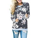 Damen Kapuzenpullover Sweatshirts Hoodie Sport Oversize Outerwear Pullover Herbst (XL, Dunkelgrau)