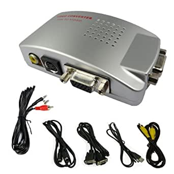 Proxima Direct PC VGA zu TV Composite Video RGB Converter / TV AV RCA S-Video-Adapter-Konverter-Box - ** Kommt mit kostenlosem 3,5 mm Klinke auf 2x Cinch-Stereo-Audiokabel