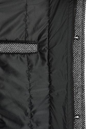 Indicode Brandan Herren Winter Mantel Wollmantel Lange Winterjacke mit Stehkragen, Größe:M, Farbe:Light Grey Mix (913) - 6