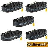 Continental Race 28 (700c) x 20-25c Bike Inner Tubes - 42mm Long Valve Presta (Pack of 5)