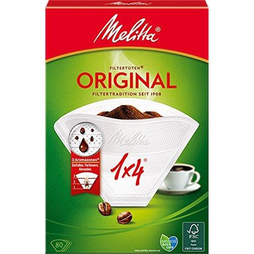 Melitta - Filtri per caffè, n. 102, 3 zone aromatiche, 9 confezioni da 80 pz.