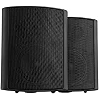 Pronomic USP-430 BK Paire ELA/HiFi Haut-parleurs muraux Enceinte Noire 120 Watt