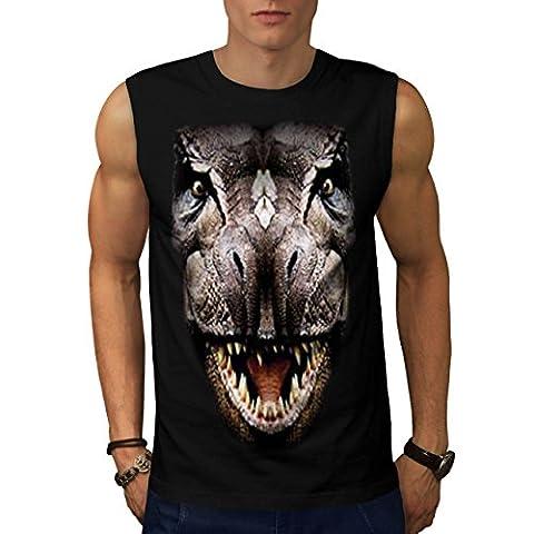 T-Rex Dinosaure jurassique Histoire Homme S T-shirt sans manches   Wellcoda