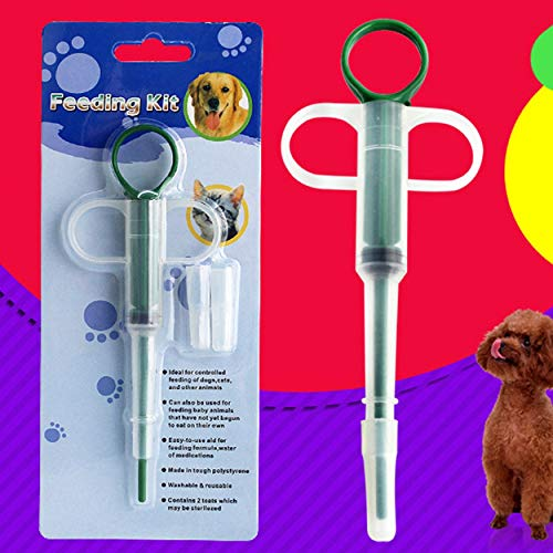 51tv2y510hL - Lorenlli Inicio Aguja Tipo Pastillas Dispensador Alimentar Medicamentos Cat'S Perros Mascotas Tableta Universal Alimentador de medicamentos Aplicador