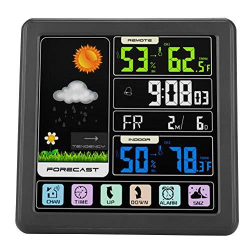 Estación meteorológica, pantalla táctil LCD Estación meteorológica digital Radio Pronóstico meteorológico...