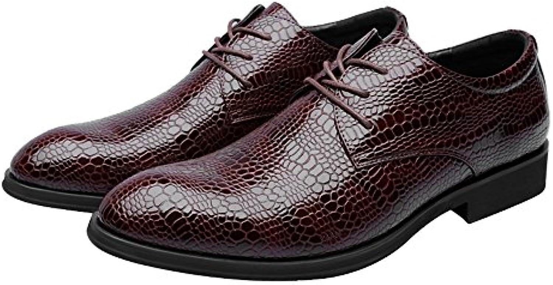 Jiuyue-scarpe, 2018 Scarpe da uomo in pelle PU Texture in pelle di coccodrillo Stringate superiori Stringate da...   marche    Uomini/Donna Scarpa